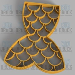Download 3D printing templates Siren - Siren Cookie Cutter, 3DDruck