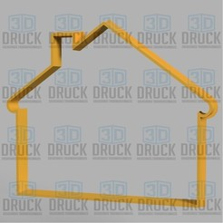 Download 3D printer model House - House Cookie Cutter, 3DDruck