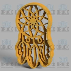 Download 3D printing models Dreamcatcher - Dreamcatcher Cookie Cutter, 3DDruck