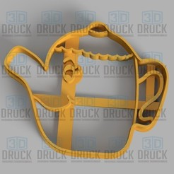 Download STL file Beautiful Teapot and the Beast - Teapot Beauty and the Beast Cookie Cutter, 3DDruck