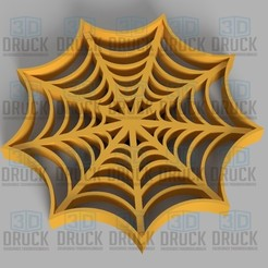 Download 3D printing templates Spider Fabric - Cobweb Cookie Cutter, 3DDruck