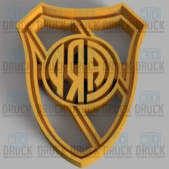 Download 3D printing designs River Plate Cookie Cutter, 3DDruck