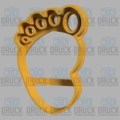 pie.jpg Télécharger fichier STL Pied - Coupe-pieds pour biscuits • Plan pour imprimante 3D, 3DDruck