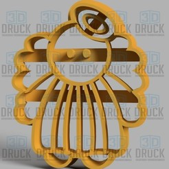 Download 3D print files Angel Cookie Cutter, 3DDruck