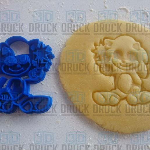 Descargar diseños 3D BABY SONIC - SONIC BEBE - MOVIE - FLOWER COOKIE CUTTER, 3DDruck
