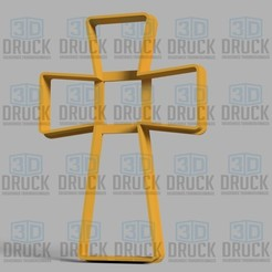 Download 3D model Cross - Cross Cookie Cutter, 3DDruck