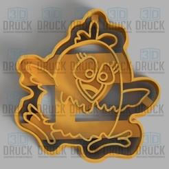 pollito1.jpg Télécharger fichier STL Poulet - Coupe-biscuits au poulet • Design pour impression 3D, 3DDruck