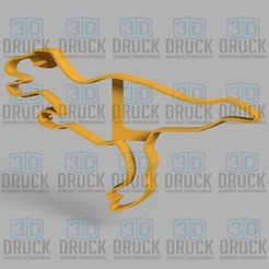 Download 3D model Dinosaur - Dinosaur Cookie Cutter, 3DDruck