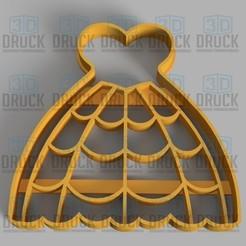 Descargar archivos 3D Vestido - Dress Cookie Cutter, 3DDruck