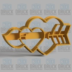 Descargar archivos STL Corazon Flecha - Heart Arrow Cookie Cutter, 3DDruck
