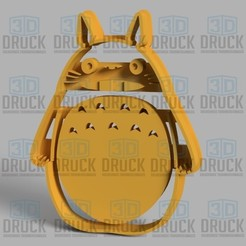 Download 3D printing files Totoro Cookie Cutter, 3DDruck