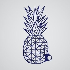 Download free 3D printing templates Pineapple keychain, Thinking3Dthings