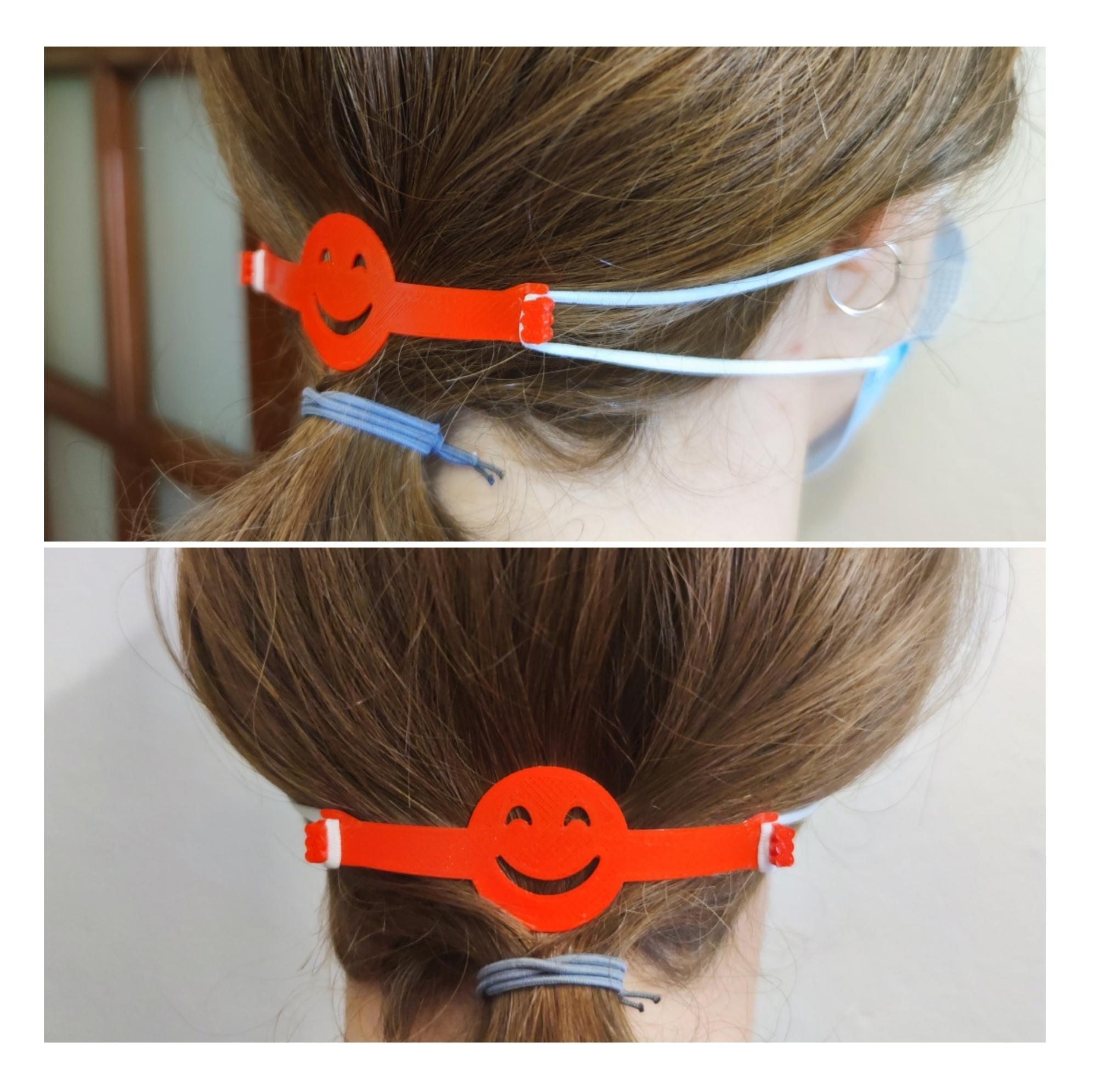 Smiley.jpg Télécharger fichier STL SMILEY COVID-19 Protecteur d'oreille, protecteur d'oreille • Modèle à imprimer en 3D, Thinking3Dthings