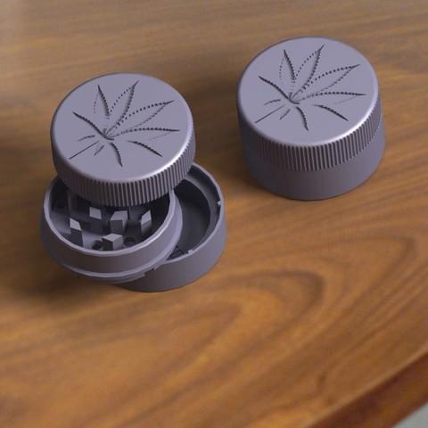 Download STL file Customizable Crusher Grinder! • 3D print template, Kana3D
