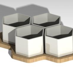 pots de fleur hexagone.PNG Download free STL file Hexagonal flowerpot • 3D print design, Kana3D
