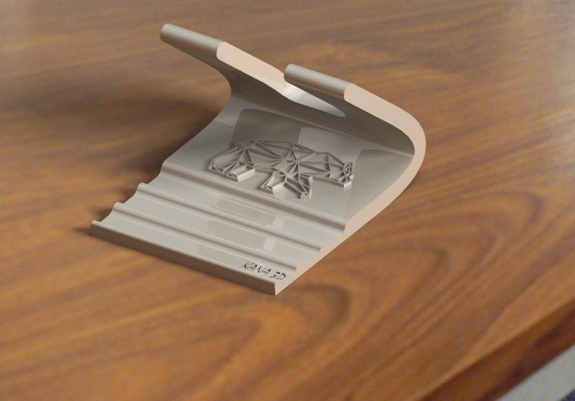 porte téléphone ours.jpg Download free STL file Phone support • 3D print object, Kana3D