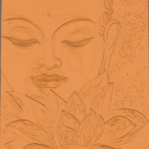 Archivos STL Buda y la flor de loto, Kana3D
