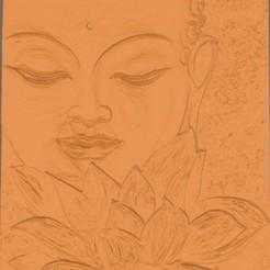 STL file Buddha and lotus flower, Kana3D
