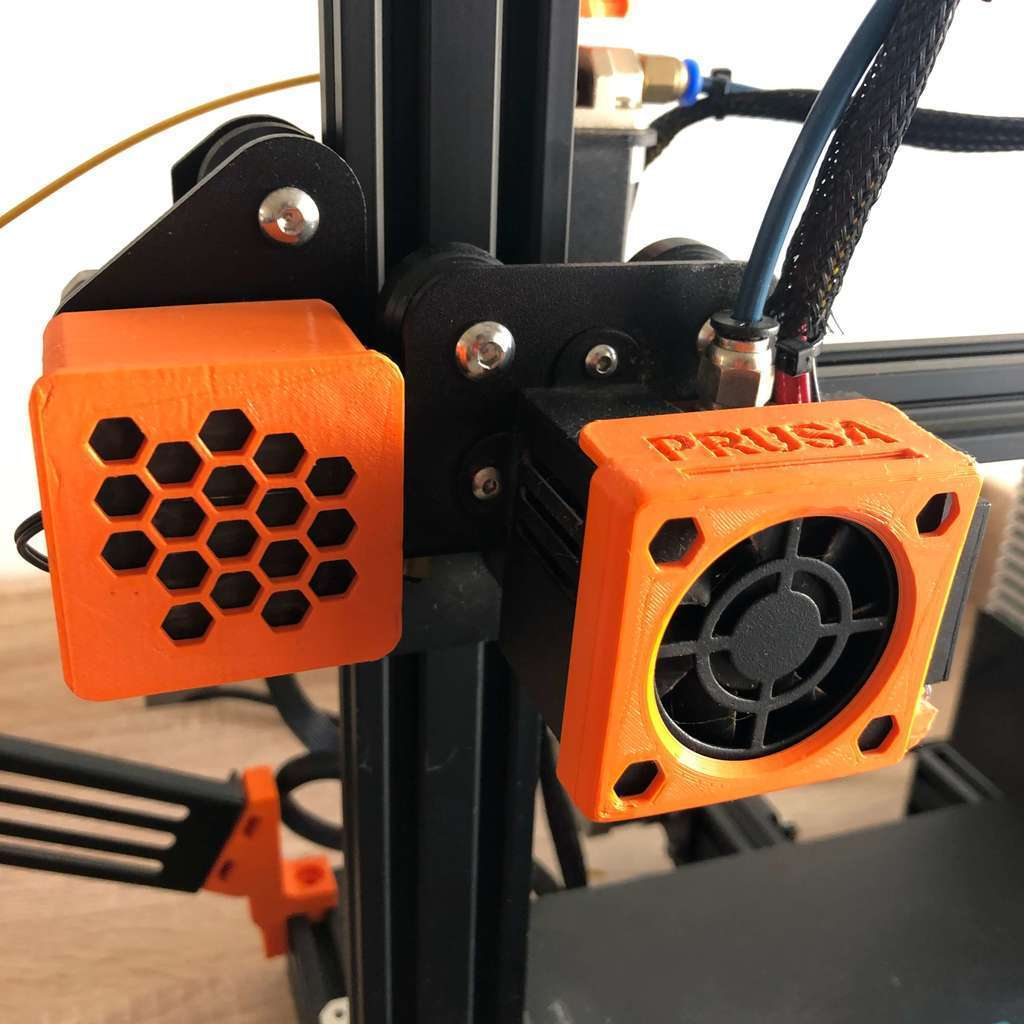 IMG_5883.JPG Télécharger fichier STL gratuit Couverture de ventilateur Ender 3 en style Prusa • Modèle pour impression 3D, DanySanchez
