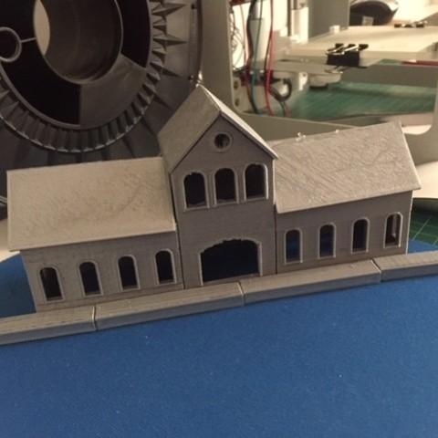 Impresiones 3D gratis Estación de Tren Escala (N), joemarc