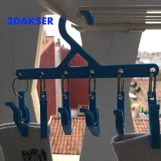 Télécharger fichier STL gratuit Cintre à chaussettes • Design pour impression 3D, 3DAKSER