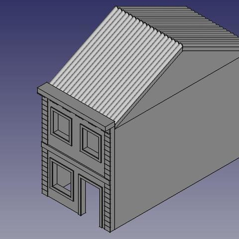 FOTO 01.jpeg Download STL file Townhouse Escala (N) • 3D print model, 3DAKSER