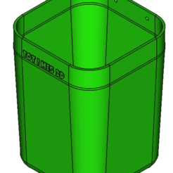 CUBO.png Download STL file Battery recycling bin • 3D printable design, 3DAKSER