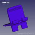 Download 3D printer designs Universal Mobile Stand, 3DAKSER