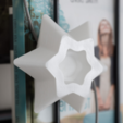 Download free 3D printer files Stars for Christmas Decoration - LED light, ewap