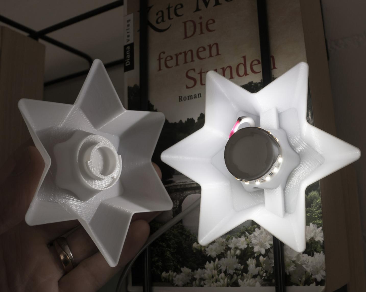 Capture d'écran 2017-10-31 à 15.52.30.png Télécharger fichier STL gratuit Étoiles pour la décoration de Noël - lumière LED • Plan pour imprimante 3D, ewap