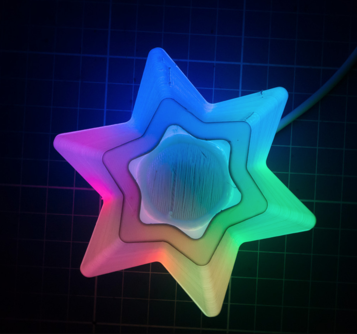 Capture d'écran 2017-10-31 à 15.56.01.png Download free STL file Christmas Decoration - Star with color LED Strip • 3D printable model, ewap