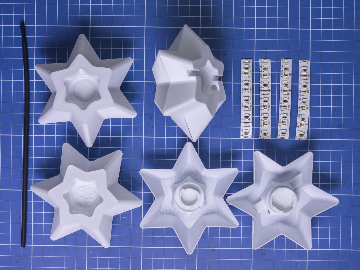 20161119_-_DSC08840.jpg Télécharger fichier STL gratuit Étoiles pour la décoration de Noël - lumière LED • Plan pour imprimante 3D, ewap