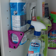 Download free 3D printer designs Bottle storage attached to shelf holes Ø<50mm, ewap