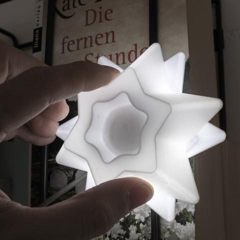 Capture d'écran 2017-10-31 à 15.52.00.png Télécharger fichier STL gratuit Étoiles pour la décoration de Noël - lumière LED • Plan pour imprimante 3D, ewap