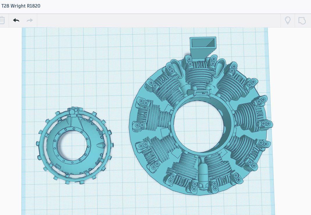 Capture.JPGT283.JPG Download STL file DUMMY RADIAL ENGINE • 3D printing design, zzizitop