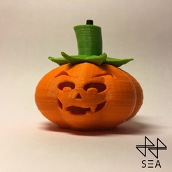 Free STL files Pumpkin making light, SEA