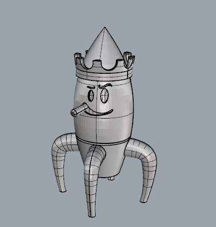rocket.jpg Download STL file Rocket King • 3D printer model, saulpintor