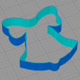 Download free STL file Christmas bell cookie cutter • 3D print template, arkcol