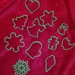 diseños 3d gratis Christmas tree cookie cutter, arkcol