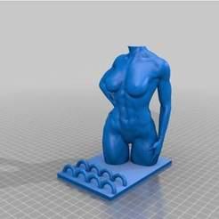 Download 3D printer files Handystand Figur Torso, 3dstc