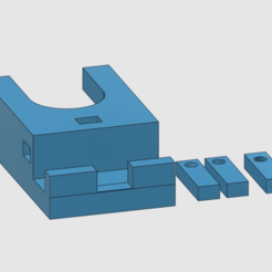 persp1.png Download STL file strickmuehle tischhalter mit fadenfuehrung • Object to 3D print, 3dstc