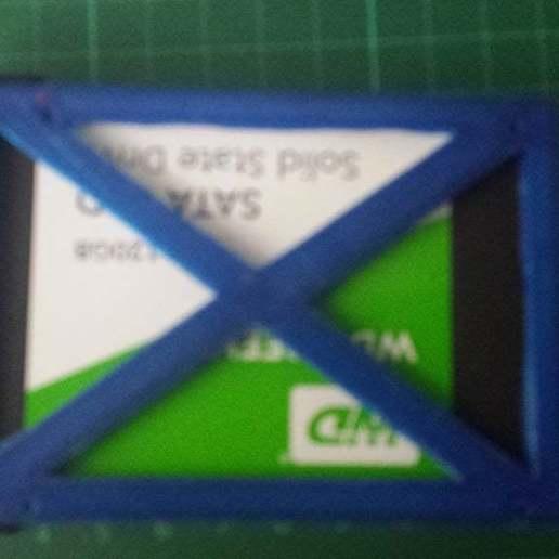 Download free STL file Adapter SSD Ausgleich  im Laptopschacht 3mm • Design to 3D print, 3dstc
