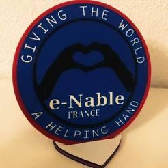 50110043_10216008286298088_3415891695005335552_n.jpg Télécharger fichier STL gratuit Badge e-Nable • Design à imprimer en 3D, lilredji