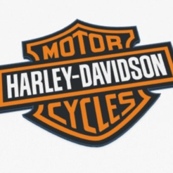 Capture.PNG Download free STL file Harley Davidson logo Multi-extrusion • 3D printable model, lilredji