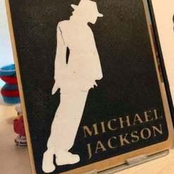 49798880_10215902872502809_3215543054173732864_n.jpg Download free STL file Portrait Frame Michael Jackson • Model to 3D print, lilredji