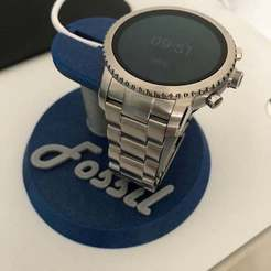 IMG_0565.jpg Download free STL file Stand charge watch connected Fossil Q • 3D printer template, lilredji