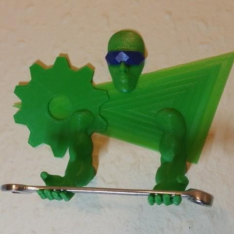 3D Printing Guardian Pen-Tool Holder - Single Color.jpg Télécharger fichier STL gratuit Outil mural / porte-stylo 3D Printing Guardian • Objet pour impression 3D, MaxFunkner