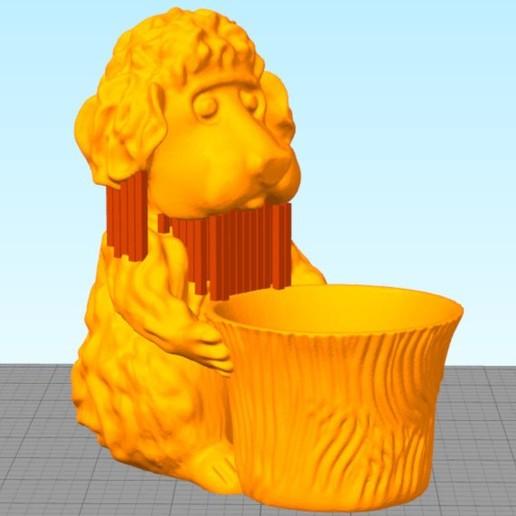 EBO Dog6 Support Placement in Simplify3D 570.jpg Télécharger fichier STL gratuit Le chien du jardinier dans un petit jardin • Modèle pour impression 3D, MaxFunkner