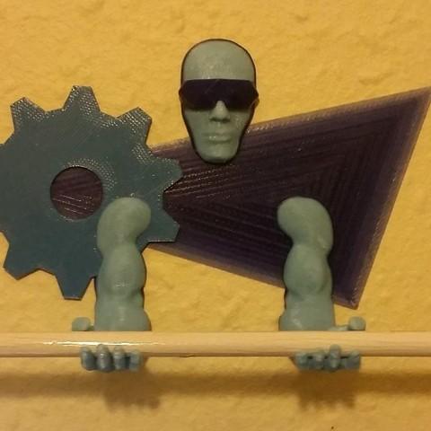 3D Printing Guardian Pen Holder.jpg Télécharger fichier STL gratuit Outil mural / porte-stylo 3D Printing Guardian • Objet pour impression 3D, MaxFunkner