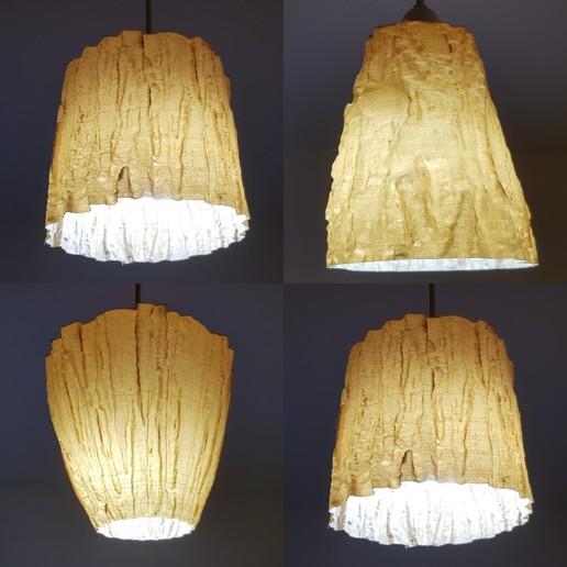 3D Scanned Tree Texture - Pine, Birch Lamp Shade 1000.jpg Télécharger fichier STL gratuit Texture de chêne scannée en 3D - pour l'impression 3D en mode vase • Modèle pour impression 3D, MaxFunkner